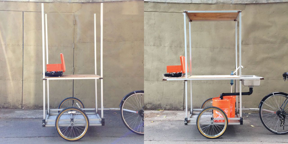 """Food truck"" bike trailer"