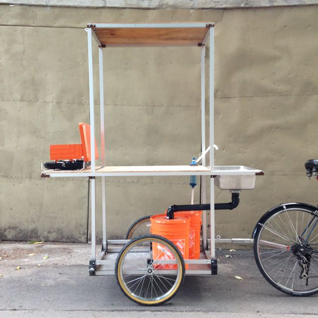 Food truck bike trailer version 2